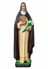 Saint Catherine of Siena resin statue cm. 40