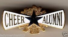 """""""CHEER ALUMNI"""" Silver/Gold ENAMEL LAPEL PINS (WHOLESALE LOT OF 25) All New Line!"""