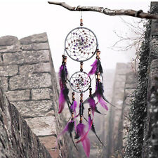 Handmade Ornament Craft Gift Dream Catcher Feathers Car Wall Hanging Decoration