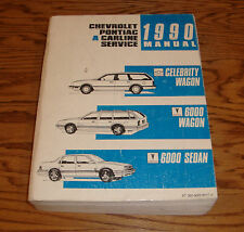 1990 Chevrolet Celebrity Pontiac 6000 Wagon Sedan Shop Service Manual 90 Chevy
