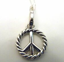 David Yurman Sterling Silver Peace Sign Charm Pendant Enhancer NWT