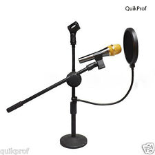 1x Microphone Studio Wind Screen Pop Filter Mask Shied Flexible 360° Rotation SP
