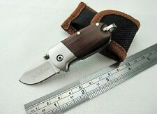Mini D-QQ Blade Wooden Handle Handmade Collectibles Pocket Knife Gift Nice