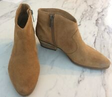 """Vince Camuto Women's Pointed Toe Ankle Boots in Tan Suede Size 7M Heel 1.5"""" Zip"""
