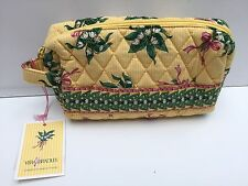 Vera Bradley Hope Cosmetic Make Up Bag Yellow Lily of the Valley Snowdrop NWT