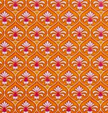 Gutermann French Cottage Fabric.Orange & Pink Floral.100% Cotton.Per Fat Quarter
