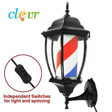 "20"" Barbershop Barber Porch Light USA Spinning Sign Hair Pole Salon Shop"
