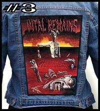 VITAL REMAINS  --- Huge Jacket Back Patch Backpatch --- Various Designs
