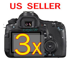 3x Canon EOS 60D Clear LCD Screen Protector Guard Shield Film