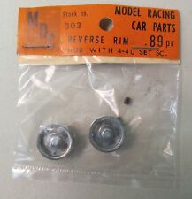 1960's MDC 303 pair REVERSE RIM HUB w/4-40 set screw 1:32 1:24 slot car MIP
