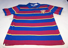 Brisbane Lions AFL Mens Stripe Embroidered Polo Shirt Top Size XXL New