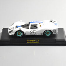 1/43 Diecast White Ferrari 412 P 24h Le Mans 1967 Racing Car Vehicles Model Toy