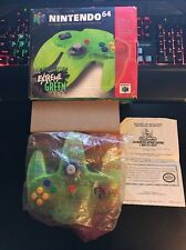 Nintendo 64 N64 Controller Extreme Green in Original Box Complete USA