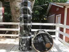 SJC Custom Maple drum set ~ rare 6 piece ~ All-Black