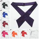 Fashion Uniform Bowties Womens Men Bow Ties Necktie Solid Color Party Wedding