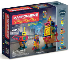 Magformers 45 Pcs Walking Robot Set Magnetic  Construction 63137 New