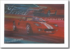 """REDUCED Ford GT40 24""""x18"""" signed by artist George Bartell"""