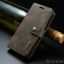 Galaxy S7 Edge/ S8 + Plus Leather Removable Wallet Magnetic Flip Card Case Cover