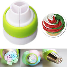 Hot Cake Decorating Tools 3-Color Icing Piping Cream Pastry Bag Nozzle Converter