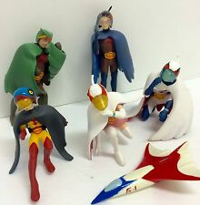 Gatchaman G-Force Battle Planets Team Gashapon Action Figure Lot of 5, 3""