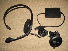 Sony PLAYSTATION 2 3 ps2 & ps3 UFFICIALE USB HEADSET MICROFONO-wired logitech