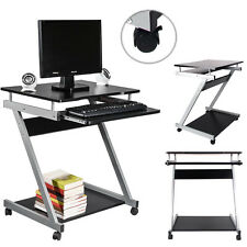 Computer Desk Laptop Table Portable Rolling Work Station Home Office Furniture