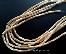 Natural Mother of Pearl 4x13mm Tube  Beads 16in. long