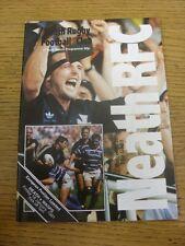 18/01/1991 Rugby Union Programme: Neath v Wasps. Footy Progs/Bobfrankandelvis, e