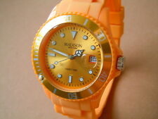 Madison New York Candy Time Herrenuhr mit Silikonband Farbe Orange