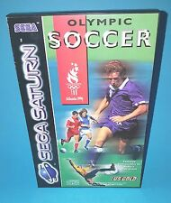 Olympic Soccer SEGA SATURN US Gold Football Sports Retro Game Video Game