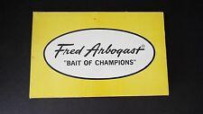 Lot of 2 Vintage Fred Arbogast Hustler Lure #870 Unused In Dealer Box