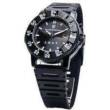Smith & Wesson Swat Watch - Back Glow, Rubber Band - Precision Quartz - Sww-45