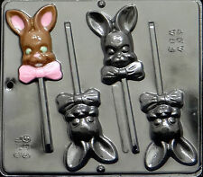 Bunny with Bow Lollipop Chocolate Candy Mold Easter  880 NEW