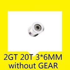 GT2 20 Teeth 3 6mm Width Timing Belt Idler Pulley Without Bearing 3D Printer