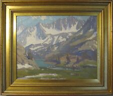 ANTIQUE VINTAGE STYLE OF EDGAR PAYNE SIERRA NEVADA MOUNTAINS FINE OIL PAINTING