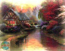 Cross Stitch Kit ~ Thomas Kinkade A Quiet Evening In Spring #51438