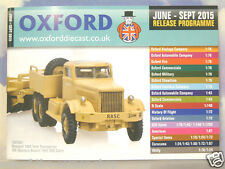 OXFORD DIECAST 48 PAGE POCKET CATALOGUE JUNE TO SEPTEMBER 2015 RELEASE PROGRAMME
