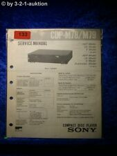 Sony Service Manual CDP M78 / M79 CD Player (#0133)