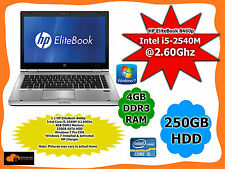HP EliteBook 8460p Laptop Intel Core i5-2540M @2.60Ghz 4GB MEM 250GB HDD Win 7