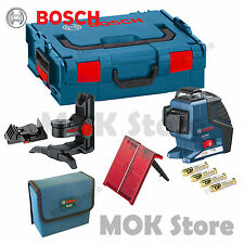 Bosch GLL3-80P Leveling Alignment Line Laser + BM1 Holder + LR2 Receiver Combo