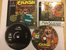 ORIGINAL PS1 PLAYSTATION 1 PSone GAME CRASH BANDICOOT 1 PICTURE DISC Ver' +DEMO