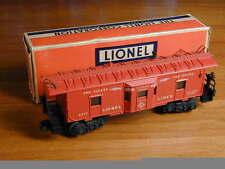 LIONEL O27 GAUGE #66517 BAY WINDOW LIGHTED CABOOSE TYPE 1 1955 BLT12-55