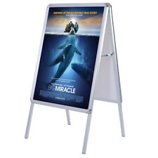 New Portable A-Frame Display Snap Board Poster Stand Holder Street Business