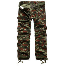 New Combat Men's Cotton Cargo ARMY Pants Military Camouflage Camo Trousers