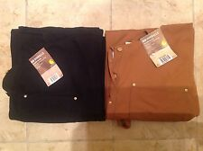 2 Pairs Carhartt Overalls 36x32 New Black and Brown R01