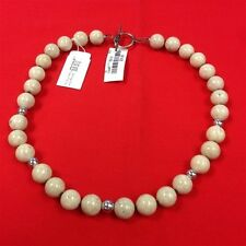 QUALITY FASHION JEWELRY Sterling Silver 21st and Stone Ivory Colored Beads