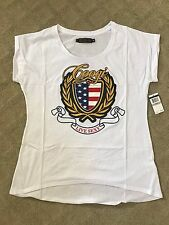 COOGI Women Live Sexy T Shirt Flag Red White Blue Size 3X Extra XXXL Retail $45