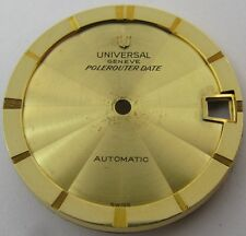 Dial universal Geneve Polerouter Date gold fit movement 218 used condition ...