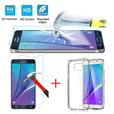 For Samsung Galaxy Note 5--9H Tempered Glass Screen Film Protector and TPU Case
