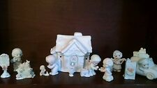 Precious Moments Sugar Town Post Office -  Complete 8 Piece Set - RARE